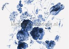 Royal blue flowers photomural Kek Amsterdam all images