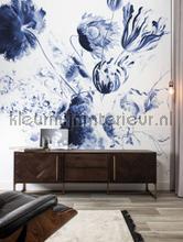 Royal blue flowers fottobehaang Kek Amsterdam _intrieur