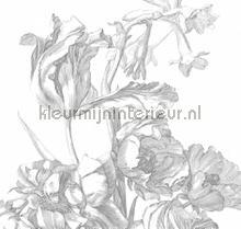 engraved flowers photomural Kek Amsterdam Flora en Fauna wp-331