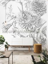 Engraved flowers fottobehaang Kek Amsterdam _intrieur