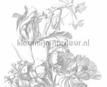 engraved flowers photomural Kek Amsterdam Flora en Fauna wp-335