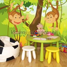 Joyful monkeys fotomurales 1271-VE M Girls Kleurmijninterieur