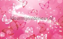 Pink butterflies photomural Kleurmijninterieur all-images