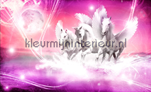 Pink running pegasus fototapet Kleurmijninterieur salg
