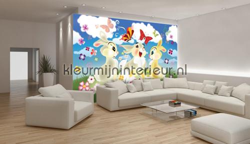 Three bunnies fotomurales 546-VE M Girls Kleurmijninterieur