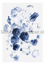 Royal Blue Flowers 1 photomural Kek Amsterdam Golden Age Flowers WP-207