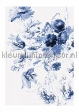 Royal Blue Flowers 3 photomural Kek Amsterdam Golden Age Flowers WP-209