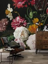 papier murales Golden Age Flowers
