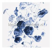 Royal Blue Flowers 1 photomural Kek Amsterdam Golden Age Flowers WP-217