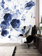 Royal Blue Flowers 1 photomural Kek Amsterdam Golden Age Flowers WP-223