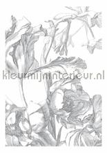 Engraved Flowers photomural Kek Amsterdam Golden Age Flowers WP-327