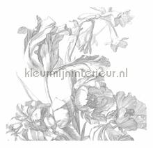 Engraved Flowers photomural Kek Amsterdam Golden Age Flowers WP-331
