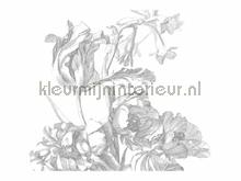 Engraved Flowers photomural Kek Amsterdam Golden Age Flowers WP-335