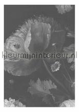 Black & White Flowers photomural Kek Amsterdam Golden Age Flowers WP-339