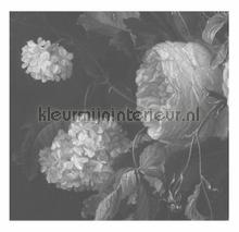 Black & White Flowers photomural Kek Amsterdam Golden Age Flowers WP-343