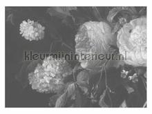 Black & White Flowers photomural Kek Amsterdam Golden Age Flowers WP-346