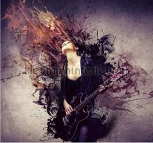 Guitar girl fotobehang Noordwand tieners