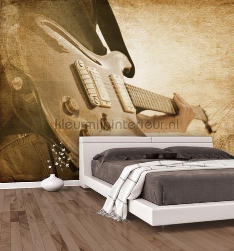 sepia guitar fotobehang g45283 tieners Noordwand