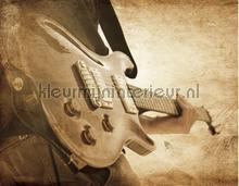 Sepia guitar fotobehang Noordwand York Wallcoverings