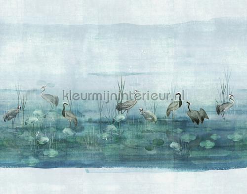 waterside aqua fotobehang dgium1011-1012-1013 Oosters - Trompe loeil Khroma