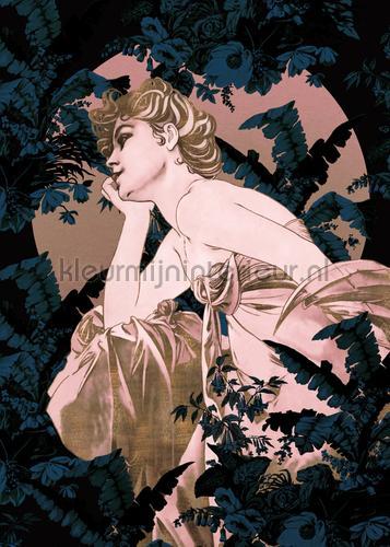 songes blue papier murales hx4-019 Art - Ambiance Komar