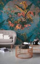 Orient bleu fotobehang Komar Oosters Trompe loeil
