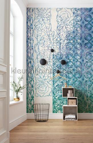 art nouveau blue fotomurais hx5-039 Heritage Edition 1 Komar