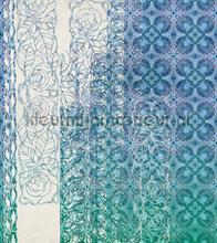 Art nouveau blue fotobehang Komar York Wallcoverings