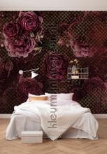 Rouge intense fotobehang Komar York Wallcoverings
