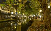 Utrecht by night photomural Noordwand Holland 1174