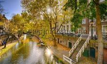 Utrecht Oude gracht II photomural Noordwand Holland 1548
