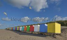 Strandhuisjes photomural Noordwand Holland 5444