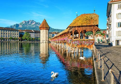 Lucerne switzerland fotobehang 00157 aanbieding fotobehang Ideal Decor