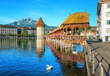 Lucerne switzerland photomural Ideal Decor Ideal-Decor Poster 00157