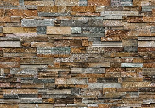 Colorful stone wall fotobehang 00159 aanbieding fotobehang Ideal Decor