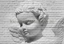 Angel brick wall fotobehang Ideal Decor Kunst Ambiance