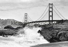 Golden gate bridge fotobehang Ideal Decor Ideal-Decor Vlies 00967