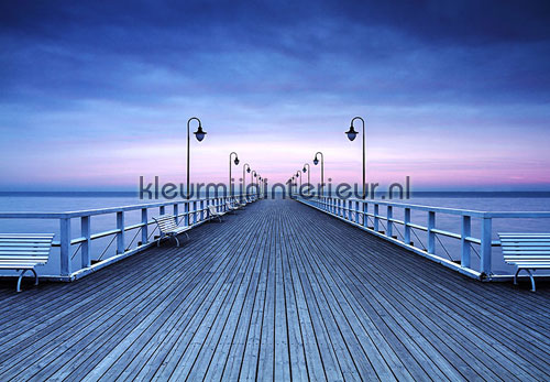 Pier at seaside fotobehang 00969 aanbieding fotobehang Ideal Decor