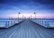 Pier at seaside fotobehang Ideal Decor Ideal-Decor Vlies 00969