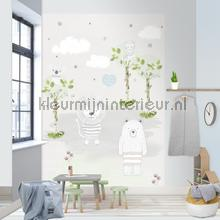 Bears and lions fotobehang Behang Expresse Kay and Liv ink7011