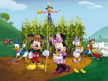 Mickey in the garden fotobehang AG Design kinderkamer meisjes