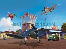 Planes on the airport photomural AG Design Kidz wall collection FTDN-XXL-5030