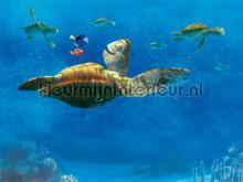 Nemo turtle fotobehang AG Design kinderkamer jongens