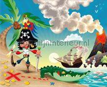 Piraten baai fototapet AG Design pirater