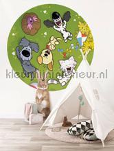 woezel en pip fototapeten Kek Amsterdam Kinder Behangcirkels ck-015