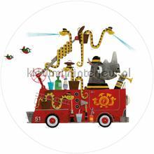 firetruck fototapeten Kek Amsterdam Kinder Behangcirkels ck-018