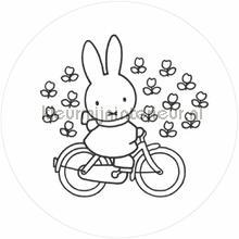 nijntje op de fiets fototapeten Kek Amsterdam Kinder Behangcirkels ck-030