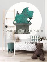 standbeeld fototapeten Kek Amsterdam Kinder Behangcirkels ck-035