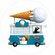 icecream truck photomural Kek Amsterdam Kinder Behangcirkels ck-039