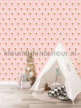 Ijsjes roze papier peint Kek Amsterdam Kinderbehang wp-129